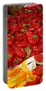 Red And Yellow Peppers Portable Battery Charger