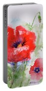 Red Anemones Portable Battery Charger
