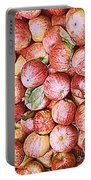 Red Apples With Green Leaf Portable Battery Charger