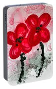 Red Asian Poppies Portable Battery Charger