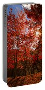 Red Autumn Leaves Portable Battery Charger