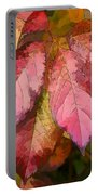 Red Autumn Line Art Portable Battery Charger