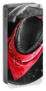 Red Bandana And Cowboy Hat Portable Battery Charger
