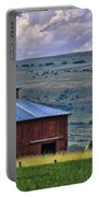 Red Barn And Barbed Wire Portable Battery Charger