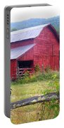 Red Barn And Rooster Portable Battery Charger