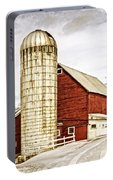 Red Barn And Silo Vermont Portable Battery Charger