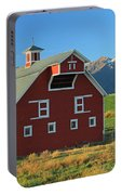 Dn5939-red Barn In The Wallowas Portable Battery Charger