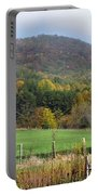 Red Barns And Mountains Portable Battery Charger
