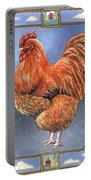 Red Baron Rooster Portable Battery Charger