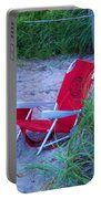 Red Beach Chair Portable Battery Charger