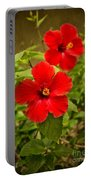 Red - Beautiful Hibiscus Flowers In Bloom On The Island Of Maui. Portable Battery Charger