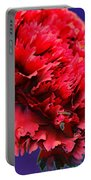 Red Beauty Carnation Portable Battery Charger