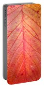 Red Blackberry Leaf Portable Battery Charger
