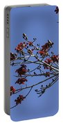 Red Blossoms Portable Battery Charger