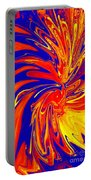 Red Blue Orange Red Yellow Swirl Portable Battery Charger