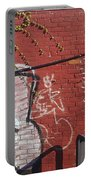 Red Brick Graffiti Portable Battery Charger