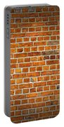 Red Brick Wall Texture With Vignette Portable Battery Charger