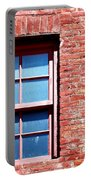Red Brick Window Portable Battery Charger