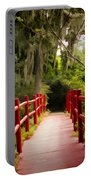 Red Bridge In Southern Plantation Portable Battery Charger