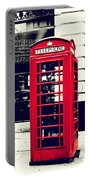 Red British Telephone Booth Portable Battery Charger