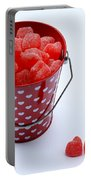 Red Bucket Of Hearts Portable Battery Charger