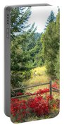 Red Bushes Portable Battery Charger