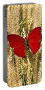Red Butterfly In The Tall Weeds Portable Battery Charger