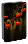 Red Cactus Flowers II  Portable Battery Charger