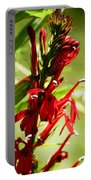 Red Cardinal Flower Portable Battery Charger