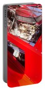 Red Classic Car Engine 2 Portable Battery Charger