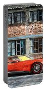 Red Corvette Portable Battery Charger by Bob Orsillo