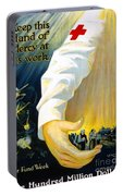 Red Cross Poster, 1918 Portable Battery Charger