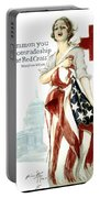 Red Cross World War 1 Poster  1918 Portable Battery Charger