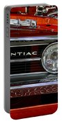 Red Customized Retro Pontiac-front Left Portable Battery Charger