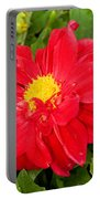 Red Dahlia Flower Portable Battery Charger