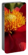Red Dahlia Starlet Portable Battery Charger