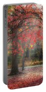 Red Dawn Square Portable Battery Charger by Bill Wakeley