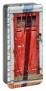 Red Door By Diana Sainz Portable Battery Charger by Diana Sainz