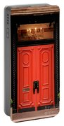 Red Door On New York City Brownstone Portable Battery Charger
