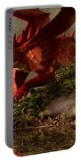 Red Dragon And Nude Bather Portable Battery Charger