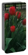 Red Dynasty Red Tulips Portable Battery Charger
