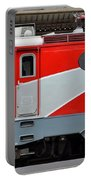 Red Electric Train Locomotive Bucharest Romania Portable Battery Charger