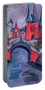 Red Elisabeth Riverbank Berlin Portable Battery Charger