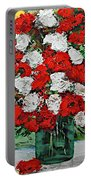 Red Explosion Portable Battery Charger