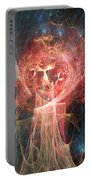 Red Fire Angels With Tower #1 Portable Battery Charger
