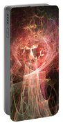 Red Fire Angels With Tower #2 Portable Battery Charger