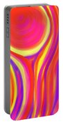 Red Fire Portable Battery Charger by Daina White