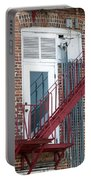 Red Fire Escape Usa I Portable Battery Charger