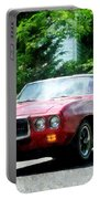 Red Firebird Convertible Portable Battery Charger by Susan Savad