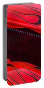 Red Flames Hot Rod Portable Battery Charger by Garry Gay